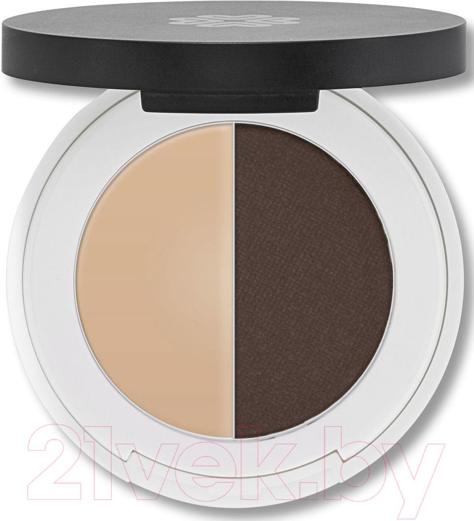 Купить Тени для бровей Lily Lolo, Eyebrow Duo Dark (2г), Великобритания, брюнет/шатен (коричневый)