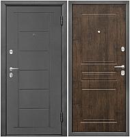Входная дверь Промет Практик 504 тиковое дерево (88x206, правая) -