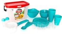 Набор пластиковой посуды Berossi Party ИК 56137000 (бирюзовый) -