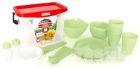 Набор пластиковой посуды Berossi Party ИК 56138000 (салатовый) -