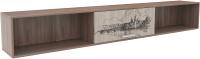 Полка SV-мебель Город (ясень шимо темный/ясень шимо светлый) -