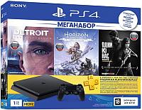 Игровая приставка Sony PlayStation 4 Slim 1TB + 3 игры / PS719926108 (с подпиской на 3 месяца) -