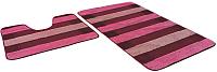 Набор ковриков Shahintex РР Mix Lux 60x100/60x50 (бордовый) -