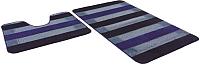 Набор ковриков Shahintex РР Mix Lux 60x100/60x50 (голубой) -