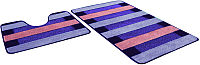 Набор ковриков Shahintex РР Mix Lux 60x100/60x50 (фиолетовый) -