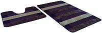 Набор ковриков Shahintex РР Mix Lux 60x100/60x50 (шоколадный) -
