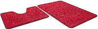 Набор ковриков Shahintex Эко 45x71/45x43 (бордовый) -