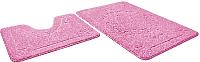 Набор ковриков Shahintex Эко 45x71/45x43 (розовый) -