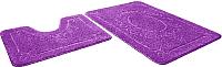 Набор ковриков Shahintex Эко 45x71/45x43 (фиолетовый) -