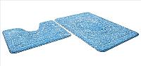 Набор ковриков Shahintex Эко 60x90/60x50 (голубой) -