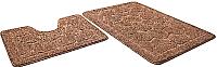 Набор ковриков Shahintex Эко 60x90/60x50 (кофе с молоком) -