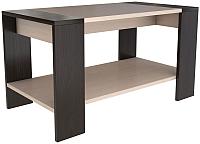 Журнальный столик Горизонт Мебель Квадро (венге/дуб) -