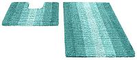 Набор ковриков Shahintex Multimakaron 60x90/60x50 (голубой) -