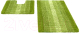 Набор ковриков Shahintex Multimakaron 60x90/60x50 (зеленый) -