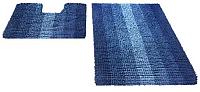 Набор ковриков Shahintex Multimakaron 60x90/60x50 (синий) -