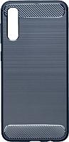 Чехол-накладка Case Brushed Line для Galaxy A50 (синий, матовый) -