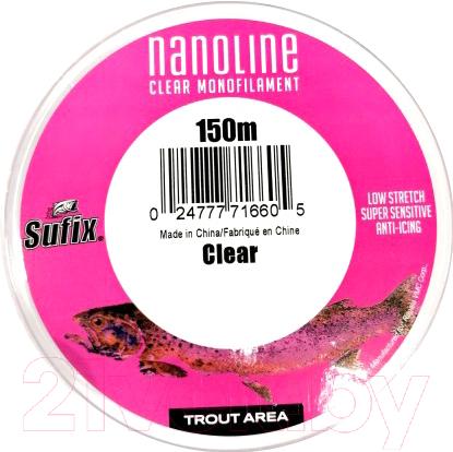 Купить Леска монофильная Sufix, Nanoline Trout 0.18мм / SNL18C150 (150м, прозрачный), Финляндия