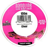 Леска монофильная Sufix Nanoline Trout 0.18мм / SNL18C150 (150м, прозрачный) -