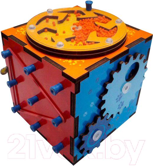 Купить Развивающая игрушка Мастер игрушек, Бизи-кубик / IG0290, Россия, дерево