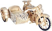 Сборная модель Чудо-дерево Мотоцикл с коляской / CD-015 -