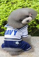 Комбинезон для животных Allfordogs Моряк / 00870 (S, синий) -
