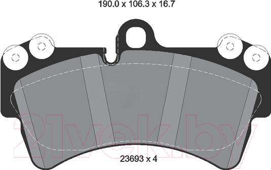 Купить Тормозные колодки Textar, 2369302, Великобритания