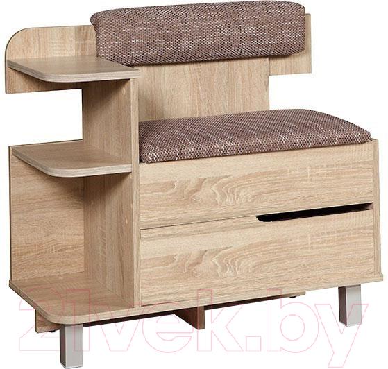 Купить Тумба в прихожую Мебель-Класс, 012.3 (сонома, правая), Беларусь
