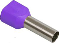 Гильза для кабеля IEK UTE10-4-D3-2-100 (20шт, фиолетовый) -