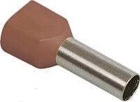Гильза для кабеля IEK UTE10-D2-4-100 (100шт, коричневый) -