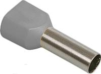 Гильза для кабеля IEK UTE10-D4-0-100 (100шт, серый) -