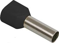 Гильза для кабеля IEK UTE10-D6-0-100 (100шт, черный) -