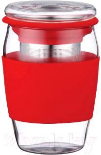 Чашка-заварник Peterhof PH-10038 (красный) - общий вид