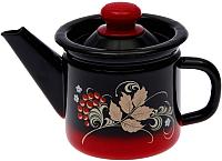 Заварочный чайник СтальЭмаль С2707.38 (красный/черный) -