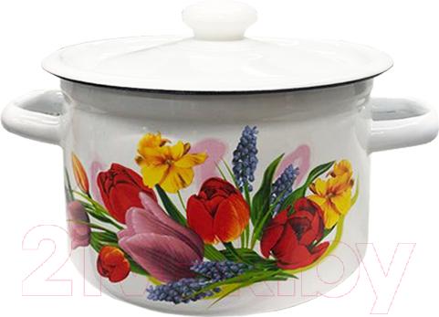 Купить Кастрюля Idilia, Весенний букет 1610/2, Россия