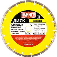 Отрезной диск алмазный Hammer Eco 206-226 -