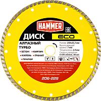 Отрезной диск алмазный Hammer Eco 206-229 -