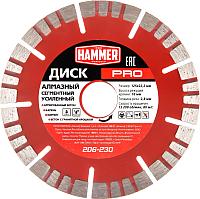 Отрезной диск алмазный Hammer Pro 206-230 -