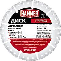 Отрезной диск алмазный Hammer Pro 206-232 -