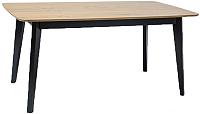 Обеденный стол Signal Macan II 160 (дуб/черный) -
