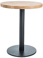 Обеденный стол Signal Puro II 80 (дуб натуральный/черный) -