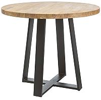 Обеденный стол Signal Vasco 80 (дуб натуральный/черный) -