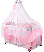 Кровать-манеж Lorelli Sleep N Dream Rocker Pink Ballet (10080341933) -