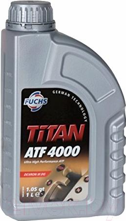 Купить Трансмиссионное масло Fuchs, Titan ATF 4000 Dexron III H / 601427107 (1л, красный), Германия