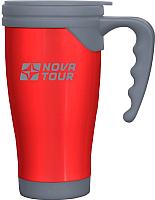Термокружка Nova Tour Сильвер 400 (красный/серый) -
