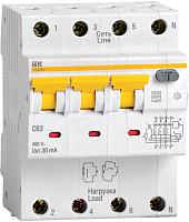 Дифференциальный автомат IEK АВДТ 34 C16 30мА / MAD22-6-016-C-30 -