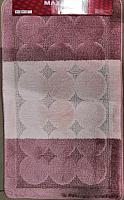 Набор ковриков Maximus Edremit 2580 60x100/50x60 (пыльная роза) -