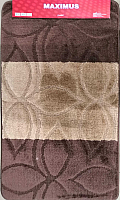 Набор ковриков Maximus Erdek 2518 50x80/40x50 (коричневый) -