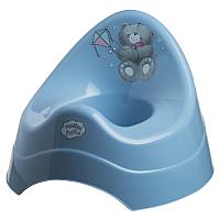 Детский горшок Maltex Мишка / 2077 (темно-голубой) -