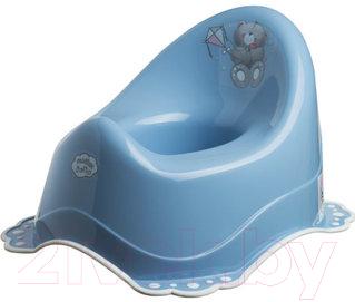 Купить Детский горшок Maltex, Мишка / 4064 (темно-голубой/белый), Польша, полипропилен