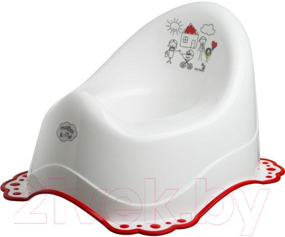 Купить Детский горшок Maltex, Семья / 5825 (белый/красный), Польша, полипропилен
